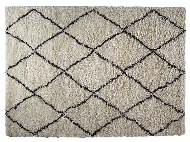 Benni Small Black White Diamond Rug 120cm X 180cm Buy At