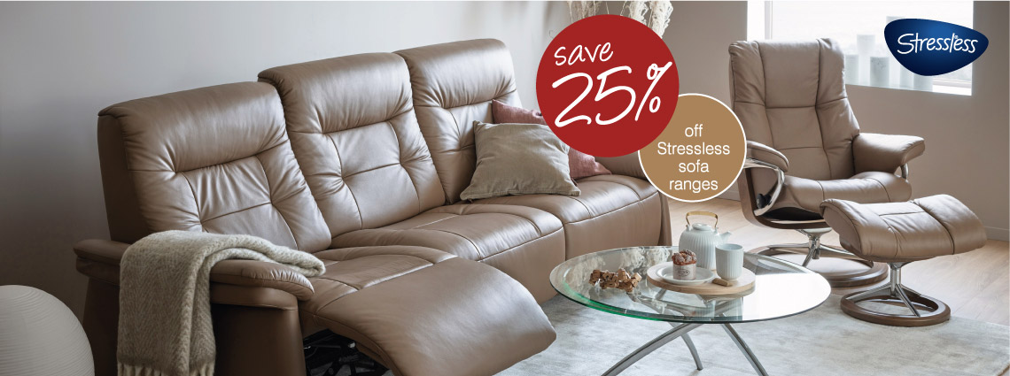 25% Off Leather Sofa Ranges
