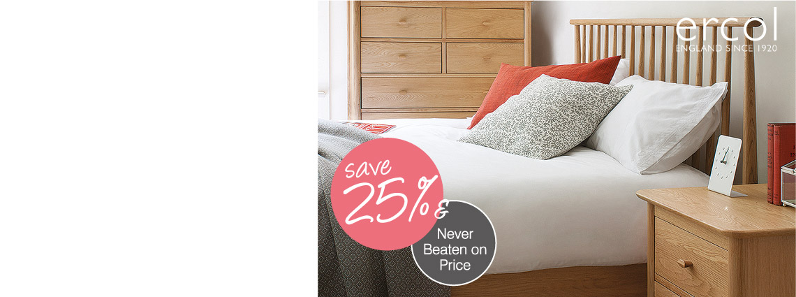 25% Off Ercol Bedroom Furniture